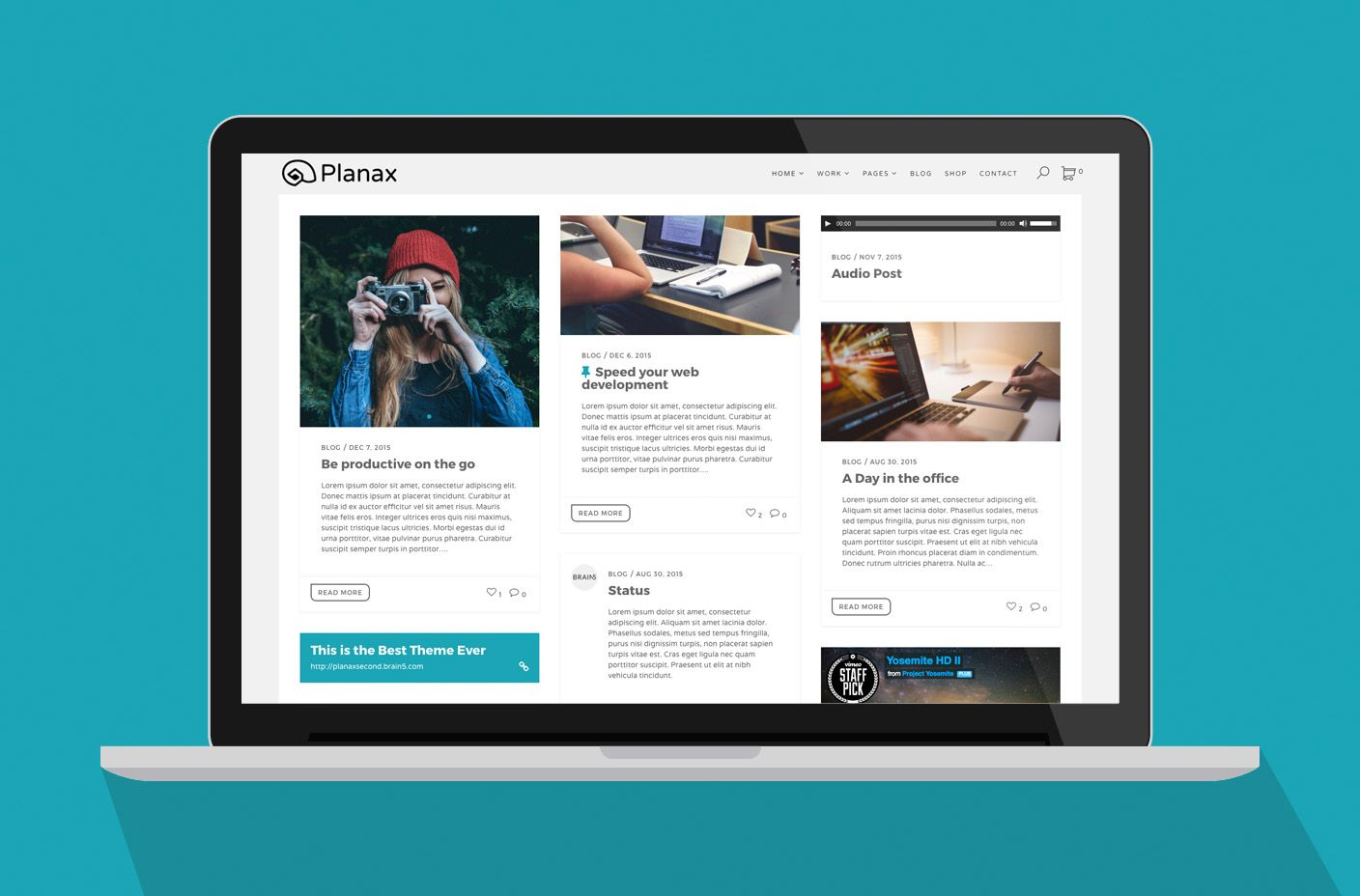 Planax - Responsive WordPress Theme Screenshot 3