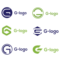 Flat G-Logo Design Inspiration Template