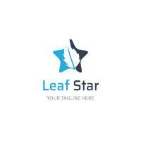 Star Leaf Shape Logo