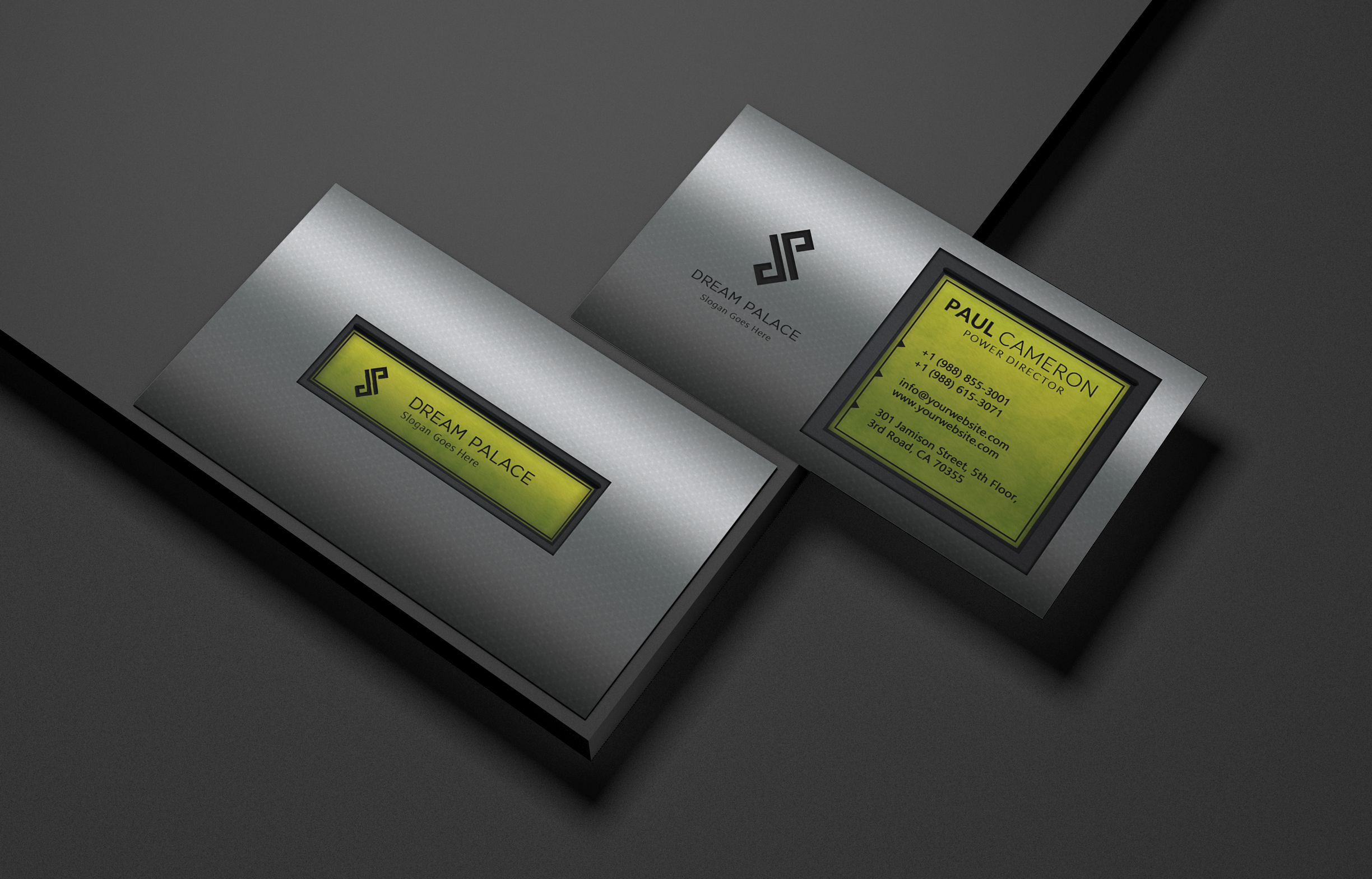 High-End Steel Business Card Screenshot 1