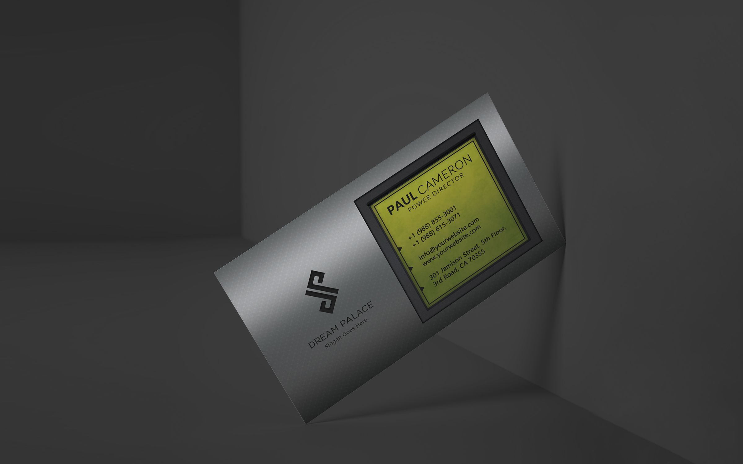High-End Steel Business Card Screenshot 2