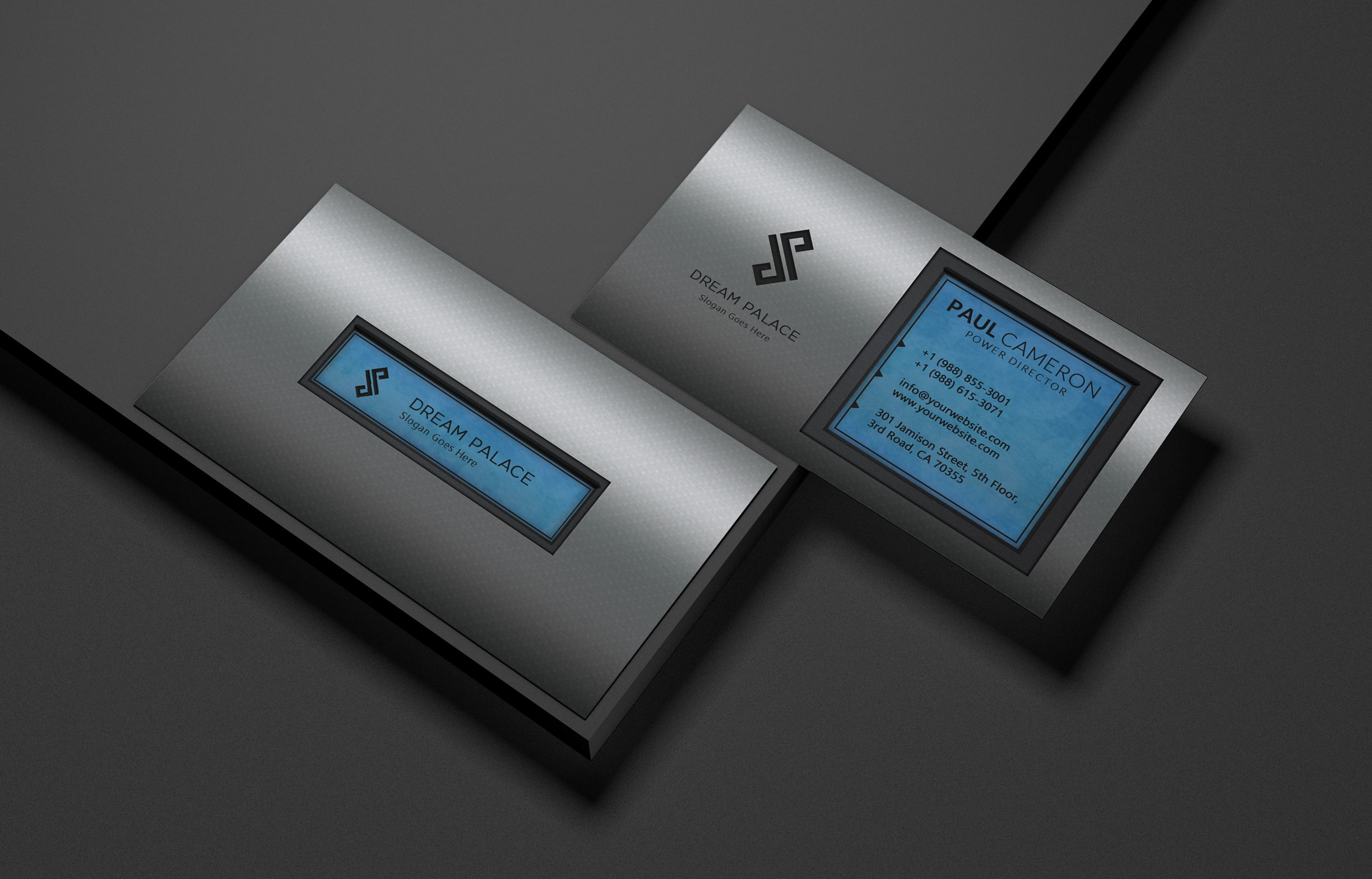 High-End Steel Business Card Screenshot 3