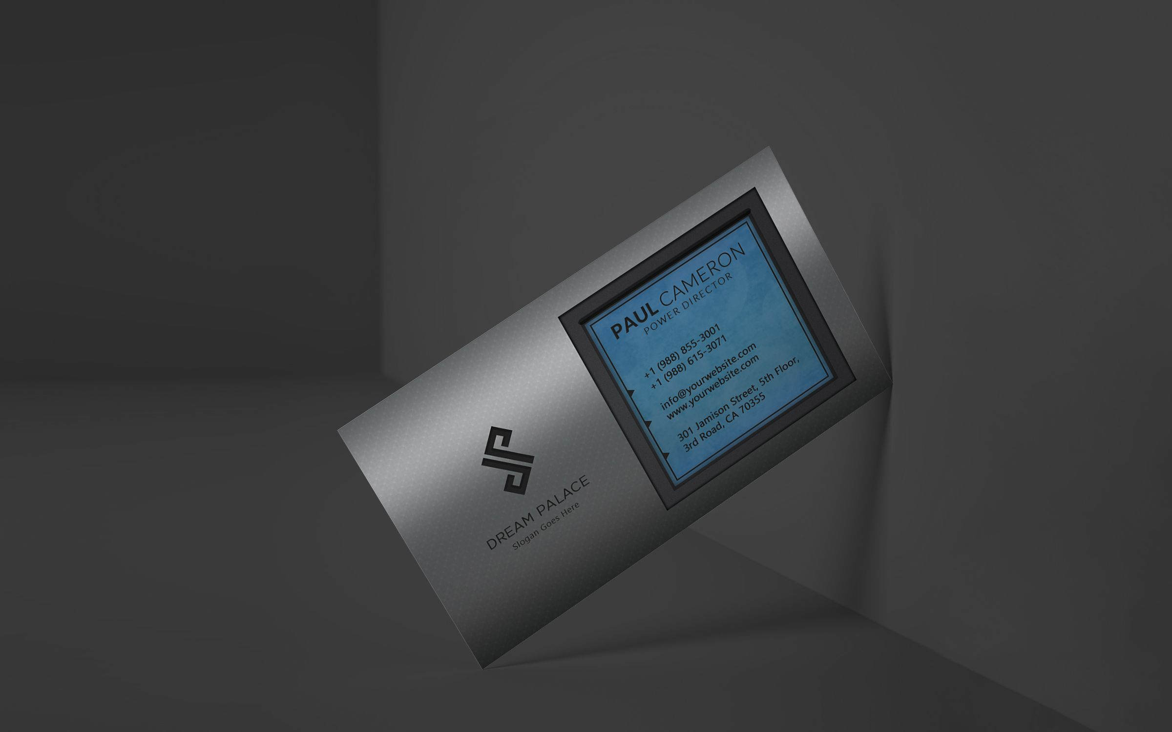 High-End Steel Business Card Screenshot 4