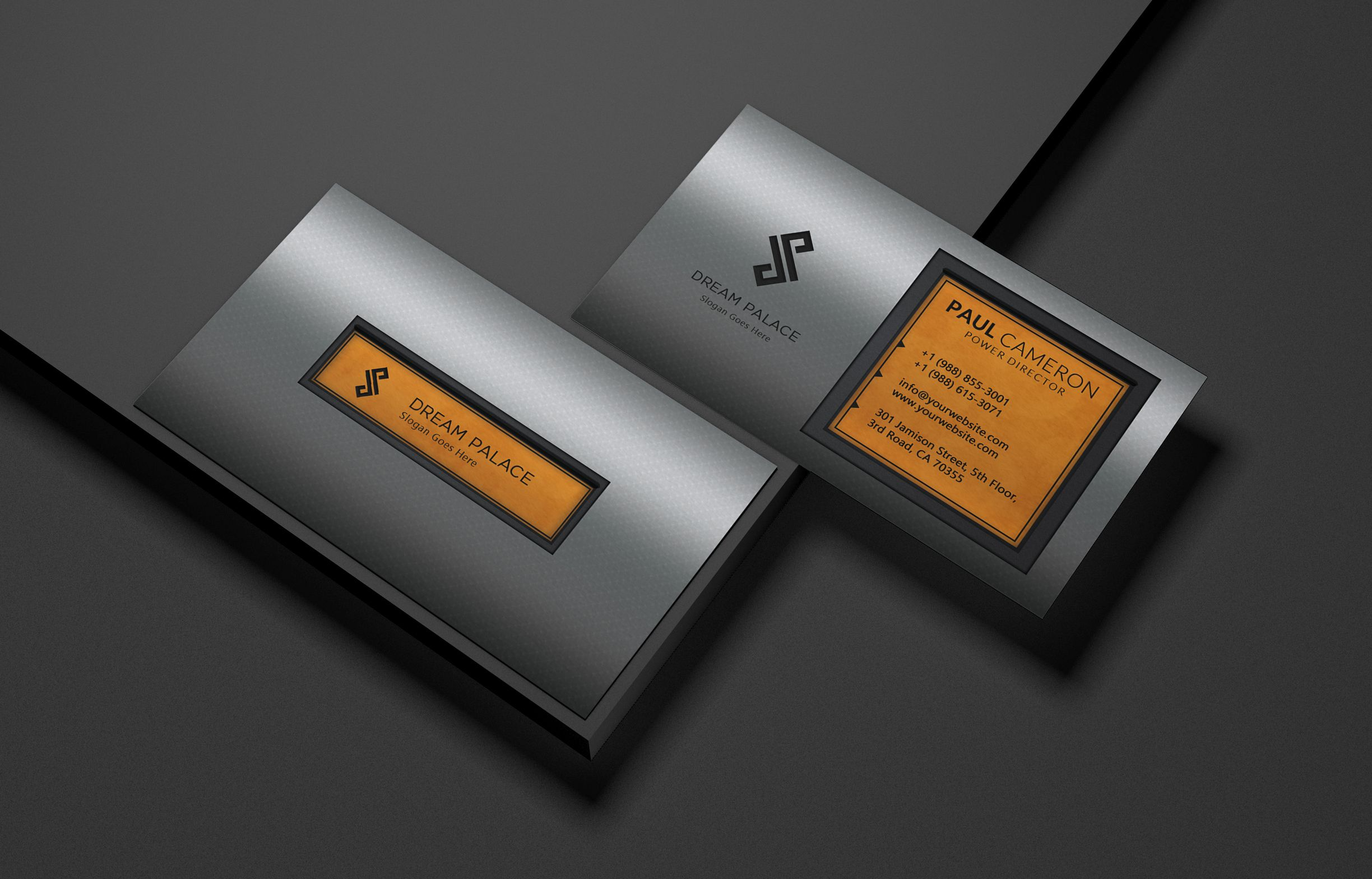 High-End Steel Business Card Screenshot 5