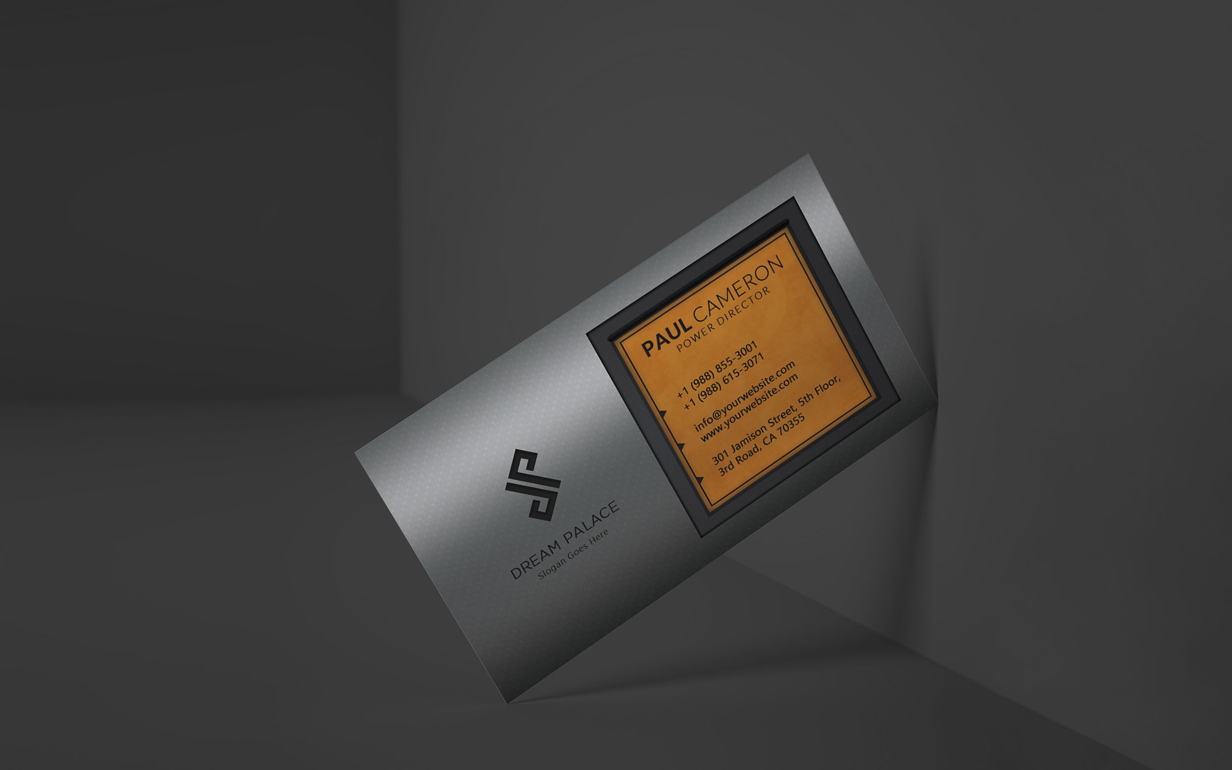 High-End Steel Business Card Screenshot 6