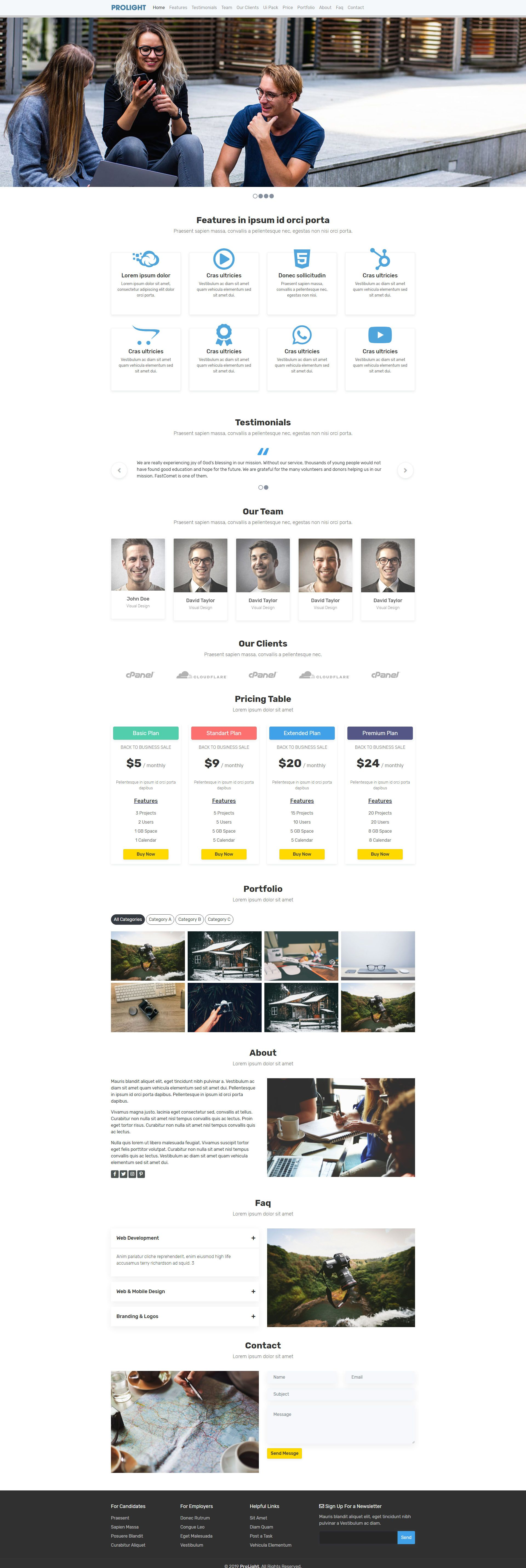 Prolight - Creative App Landing Page Screenshot 1