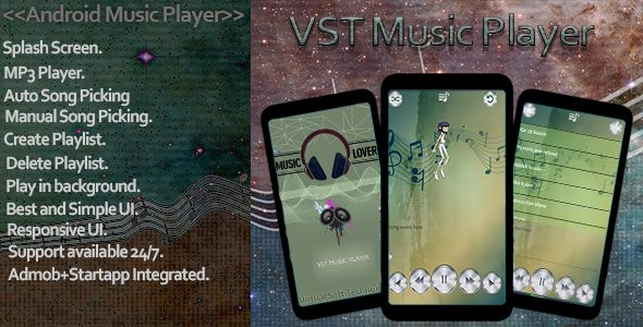 VST Music Player Pro - Android App Template Screenshot 1