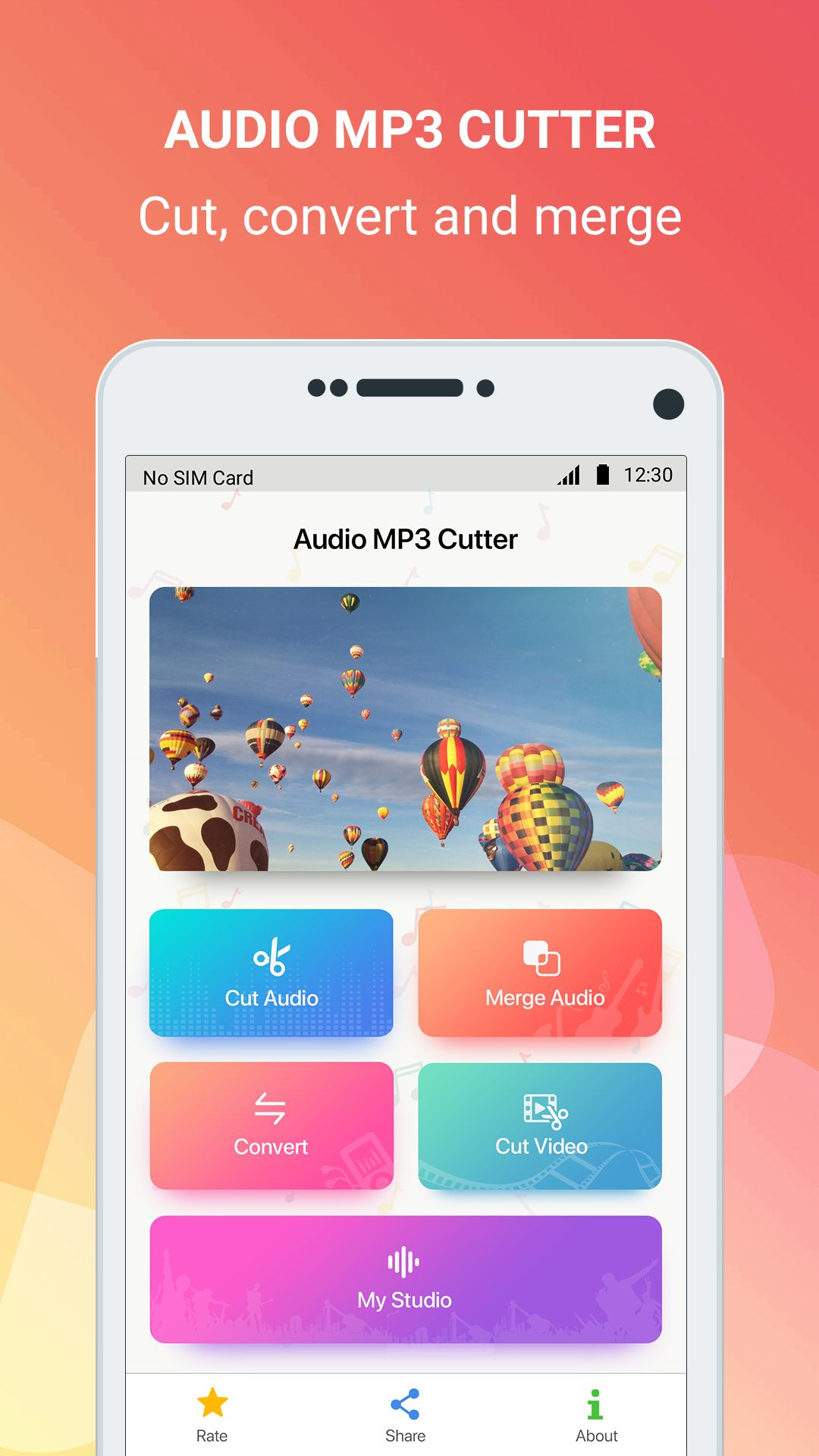Mp3 cutter - Android Source Code Screenshot 1
