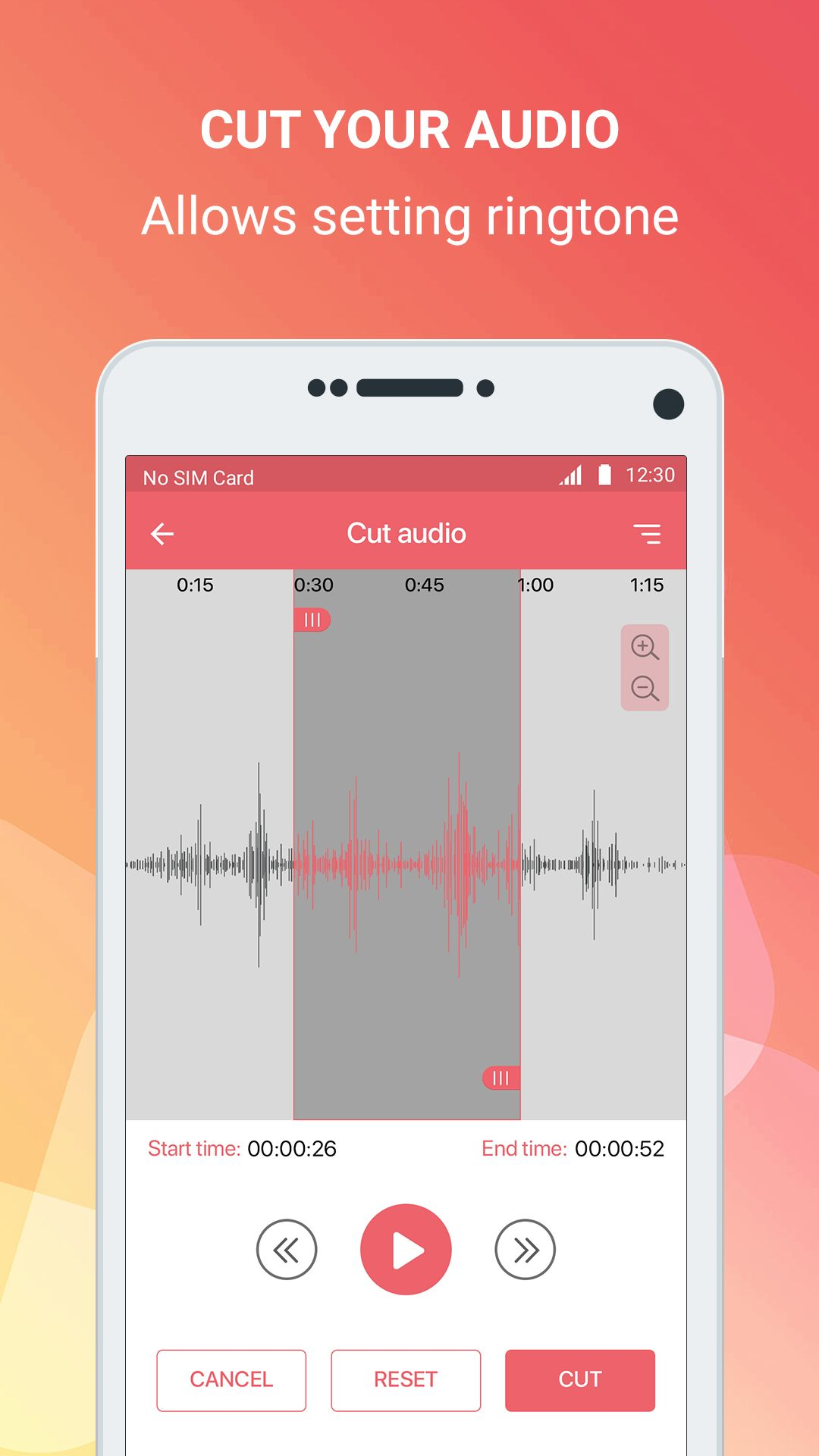 Mp3 cutter - Android Source Code Screenshot 2