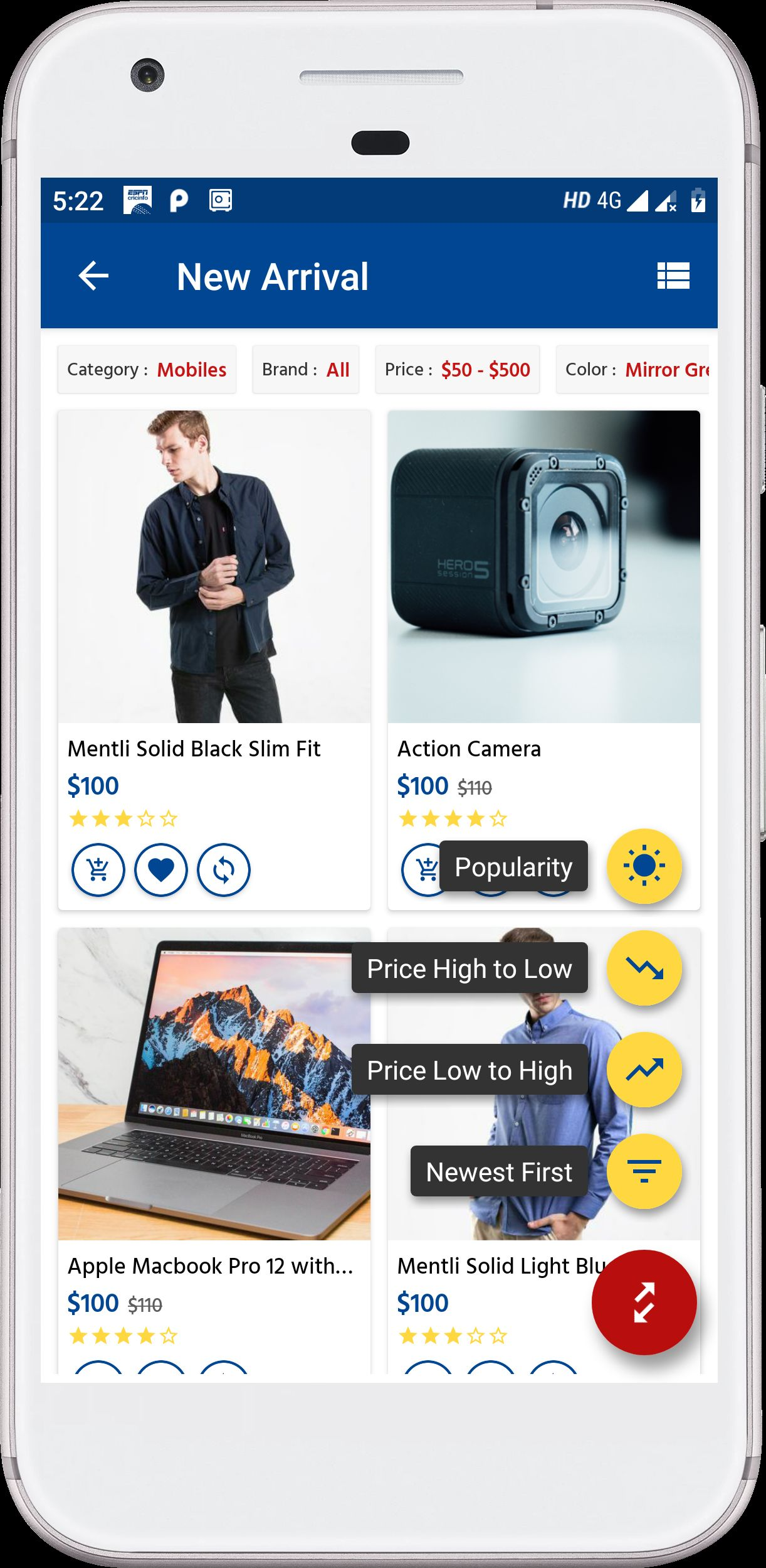 Android Native E-Commerce UI Kit Screenshot 6
