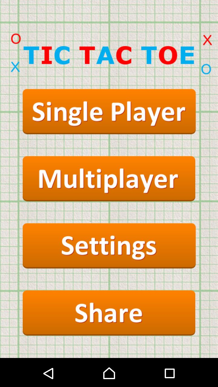 Tic Tac Toe - Android Game Source Code Screenshot 1