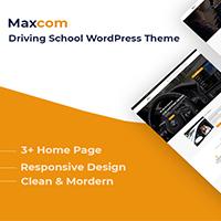 Maxcom - Driving School Education WordPress Theme