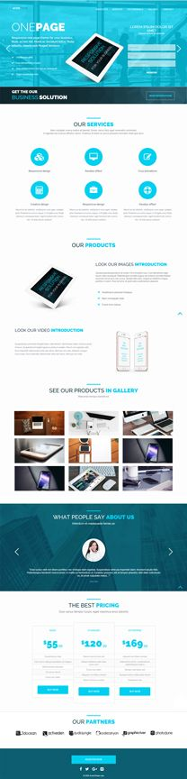 Azure - One Page Marketing  HTML Template Screenshot 2