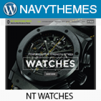NT Watches - Watches Shop WordPress Theme