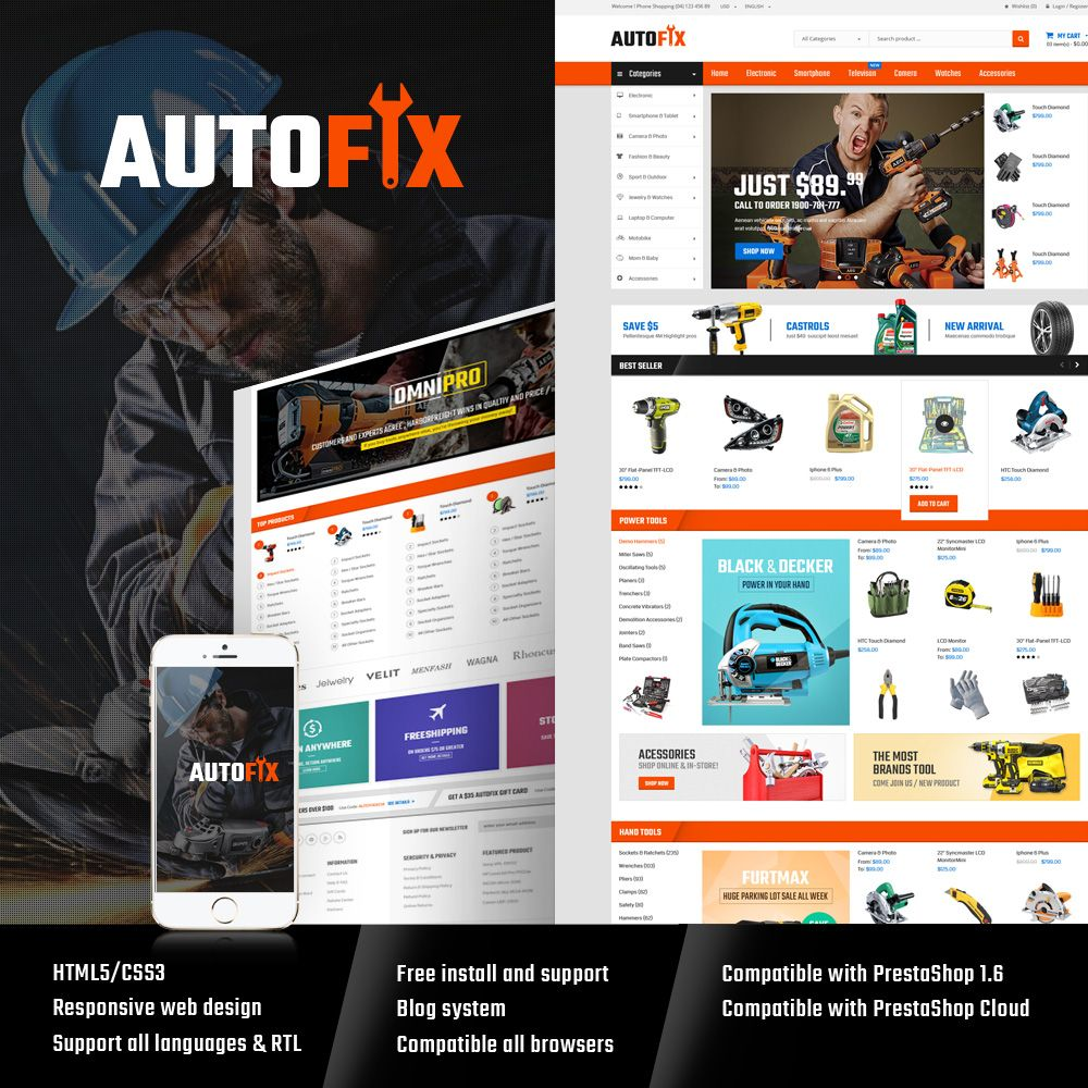 Autofix - Prestashop Theme Screenshot 1