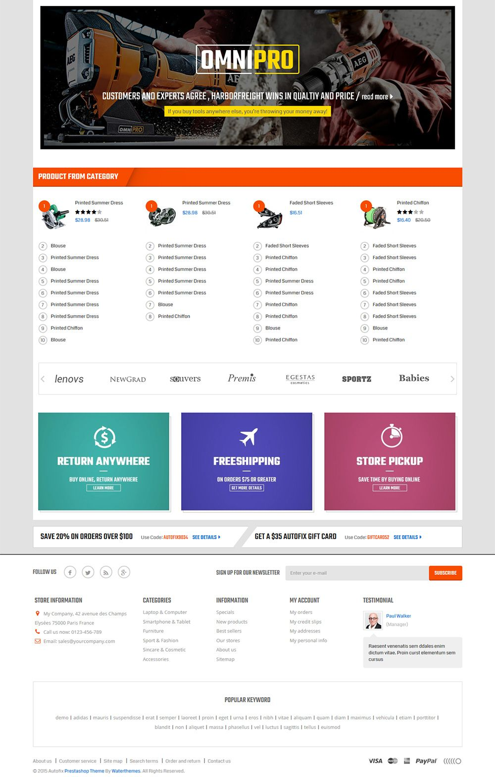 Autofix - Prestashop Theme Screenshot 3
