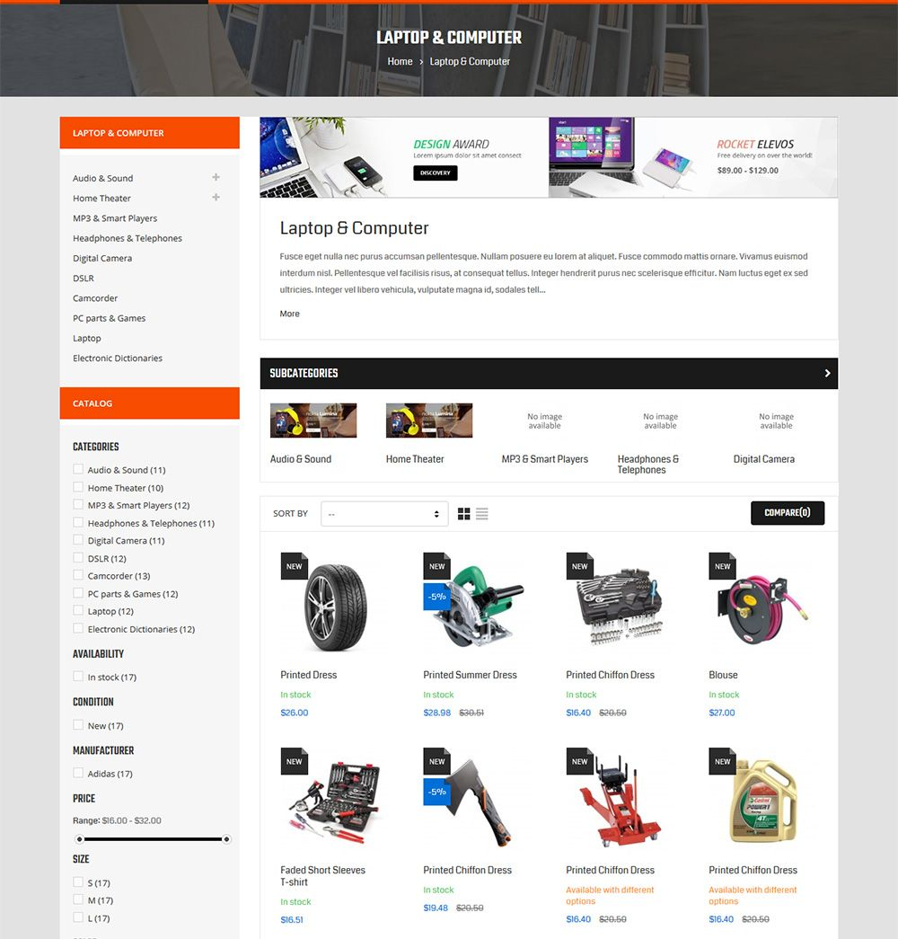 Autofix - Prestashop Theme Screenshot 4