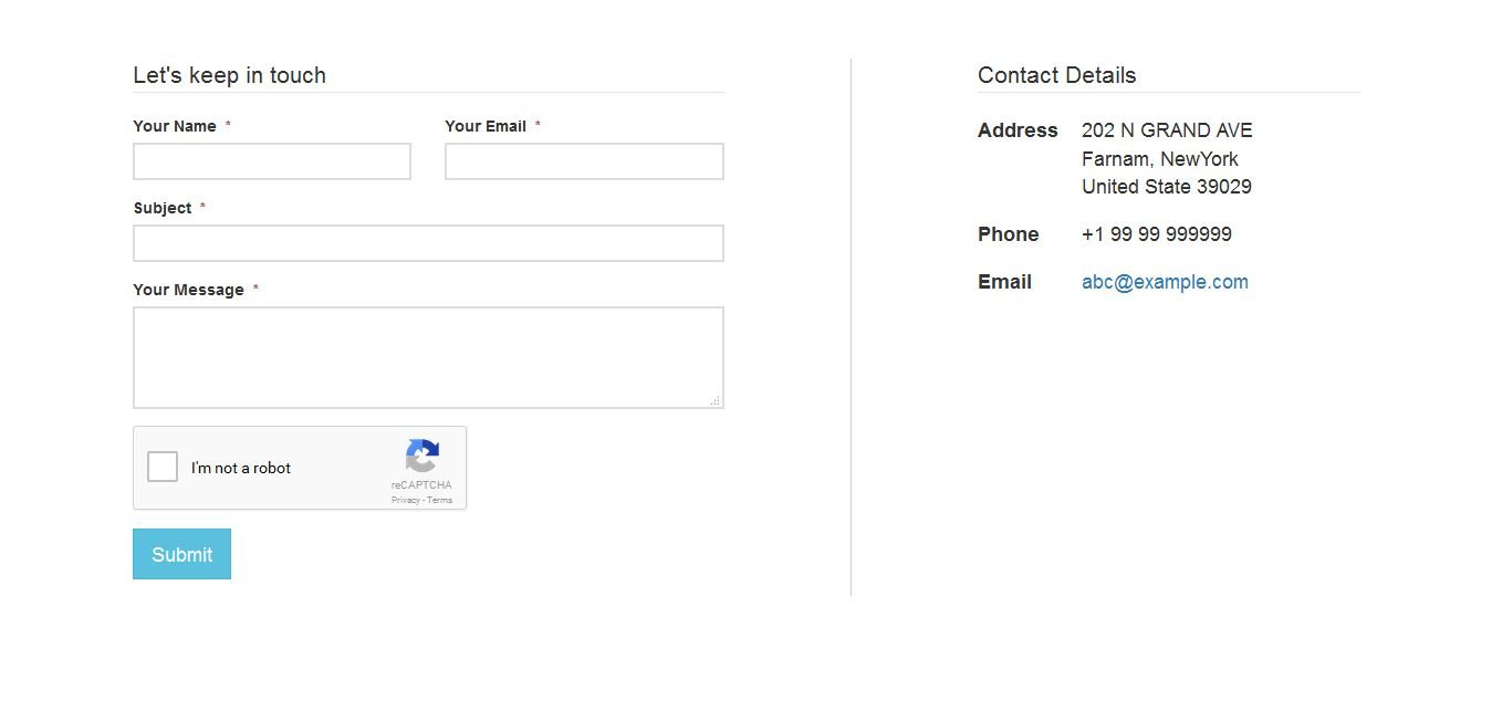 AJAX Multi-language Contact Form - PHP Script Screenshot 3