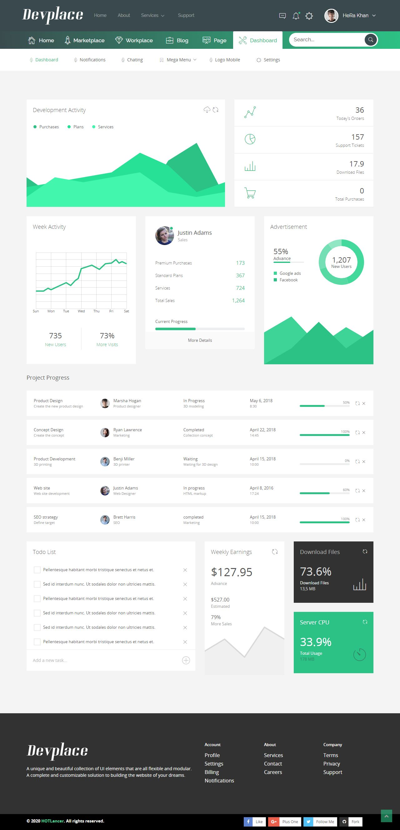 Devplace - eCommerce Marketplace HTML Template Screenshot 1