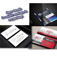 3 Business Card PSD Mockups