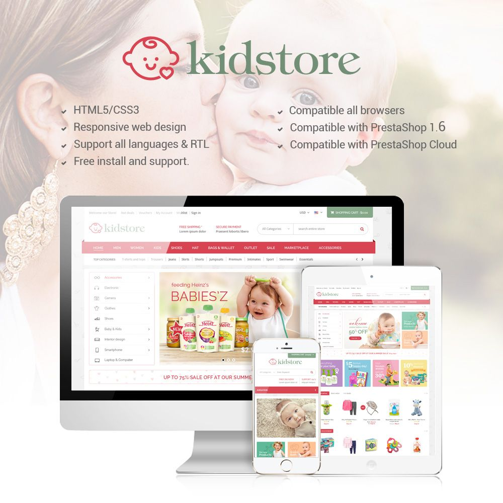 Kidstore - Children & Kids PrestaShop Theme Screenshot 1