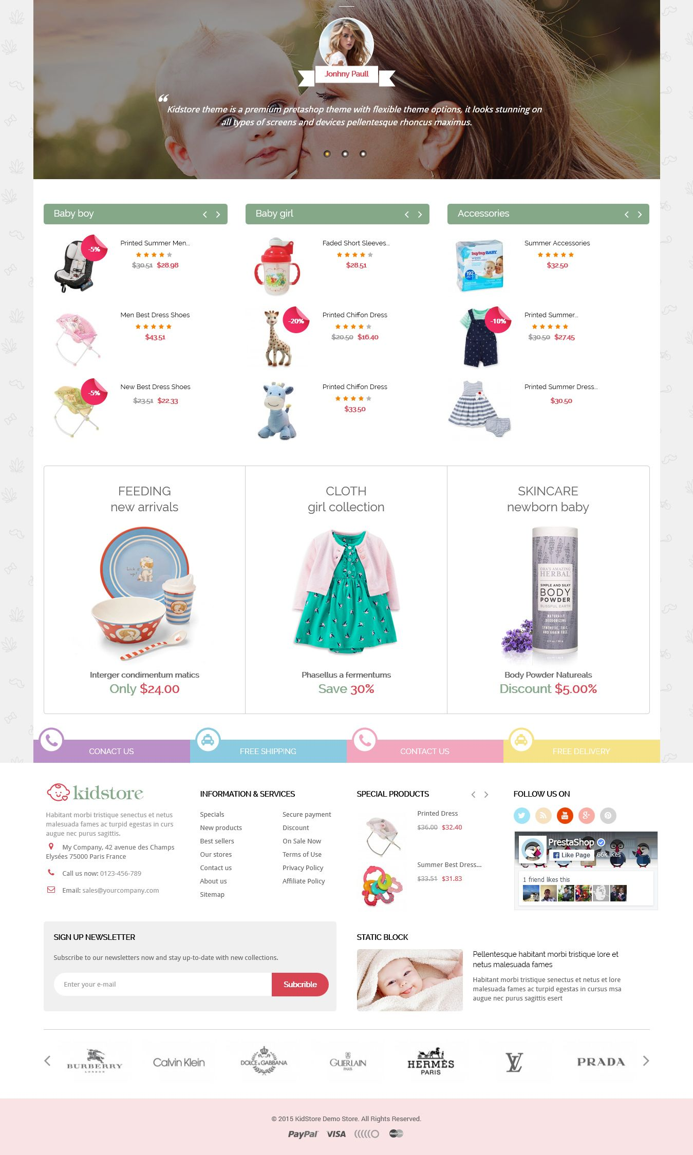 Kidstore - Children & Kids PrestaShop Theme Screenshot 3