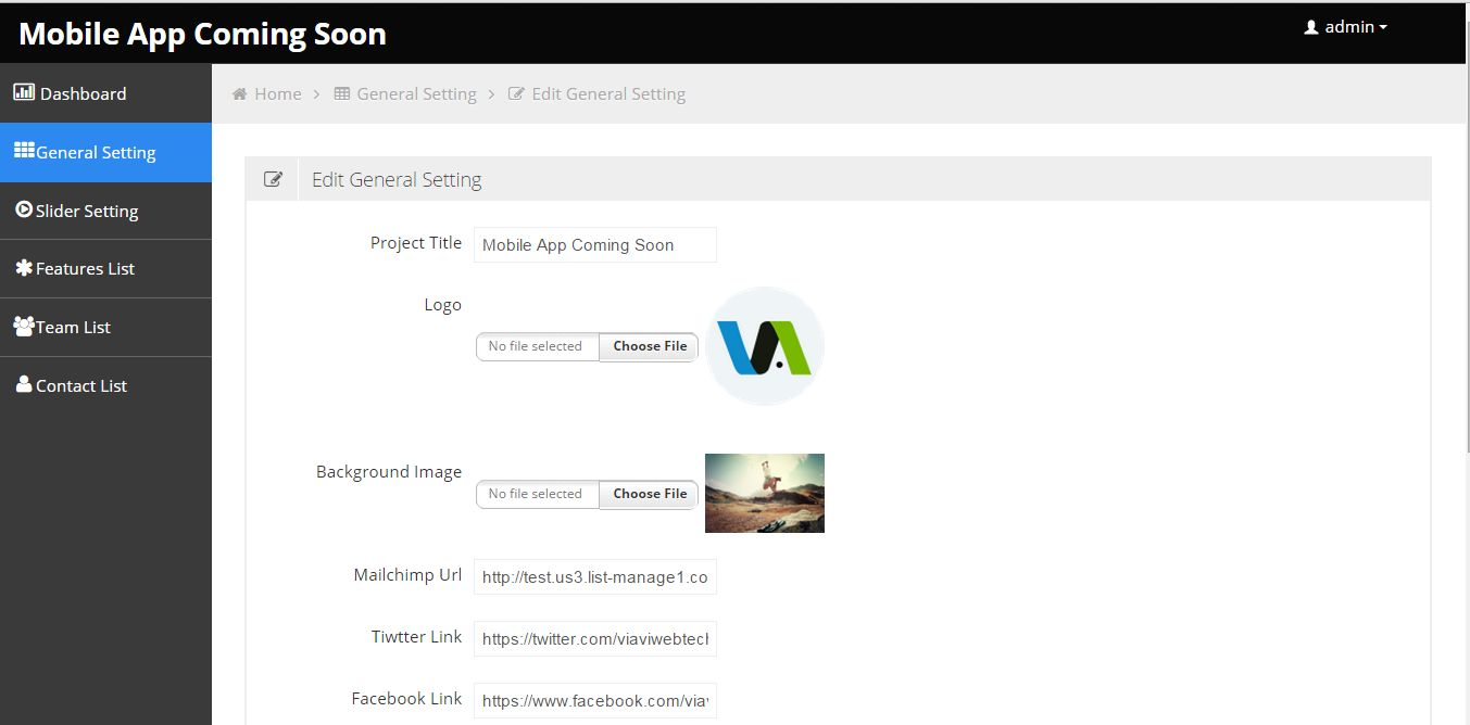 Viavi - Mobile App Coming Soon PHP Script Screenshot 2