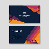 Business Card Template Colorful