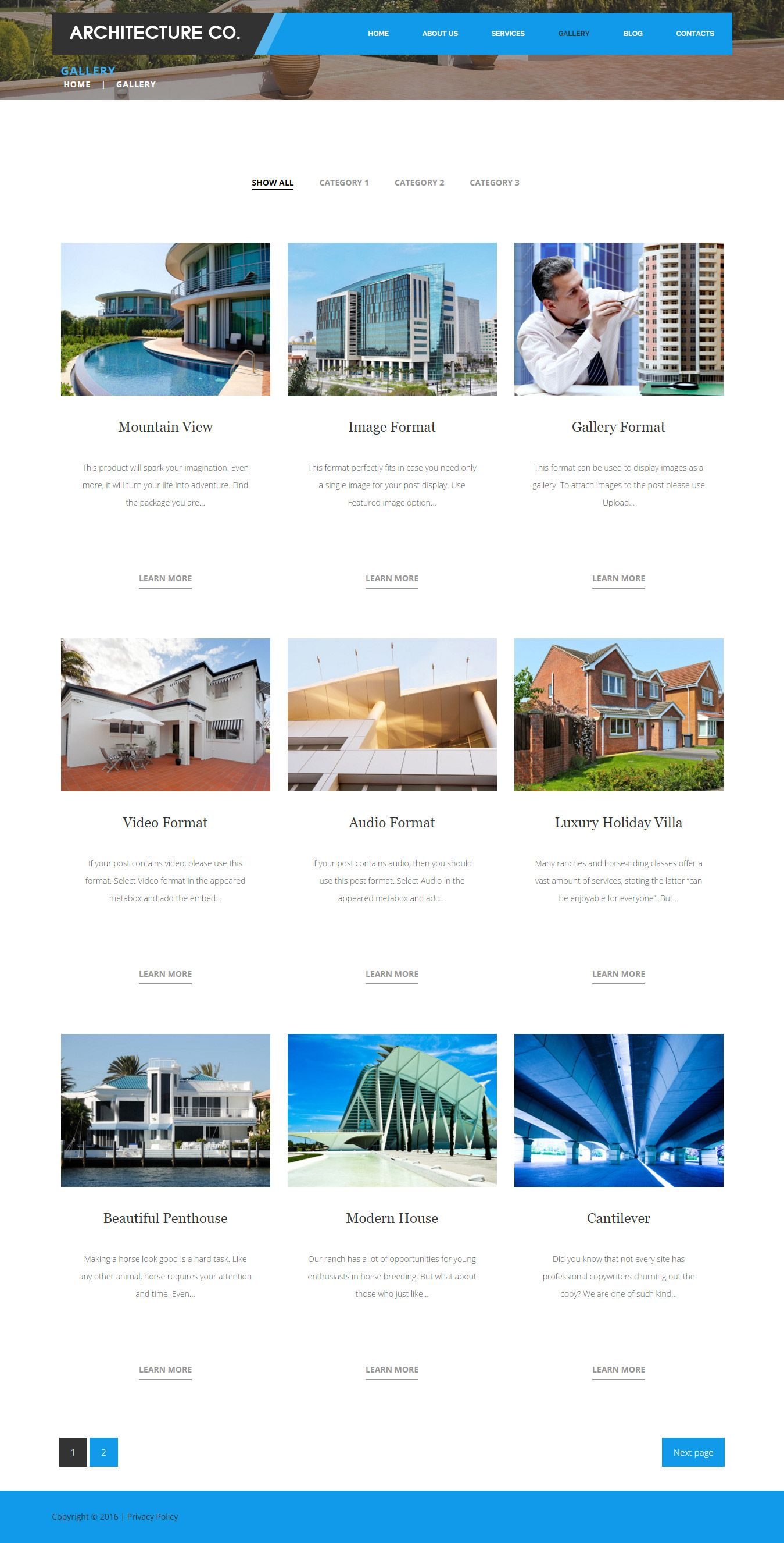Architecture company wordpress architecture them for Architecture wordpress