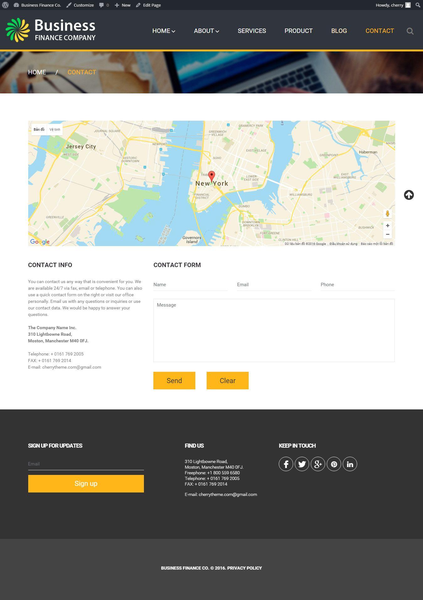 Business Finance - WordPress Business Theme - Codester