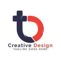 Letter TB Logo Design.