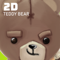 Teddy Bear 2D Game Character Sprites