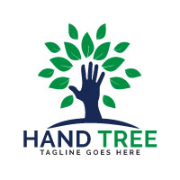 Hand Tree Logo Design