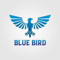 Blue Bird - Animal Logo
