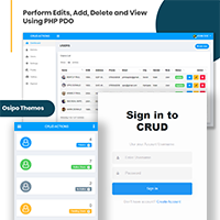 Crud - PHP Ajax Datatable Crud Actions Template