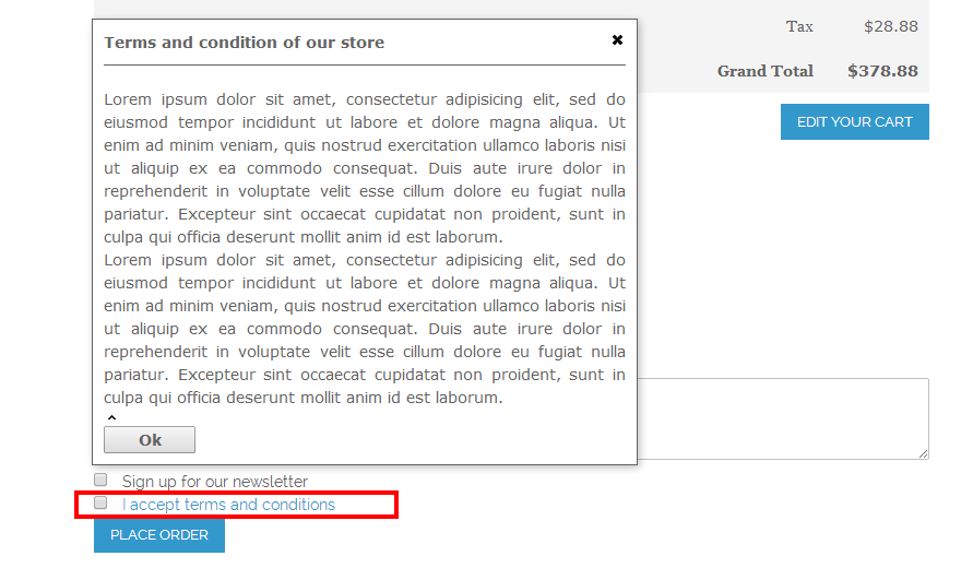 One Step Checkout - Magento Extension Screenshot 9