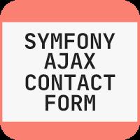 Symfony Ajax Contact Form