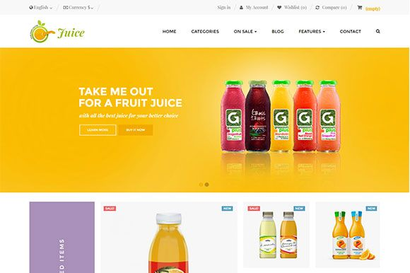 Ap Juice PrestaShop Theme Screenshot 1