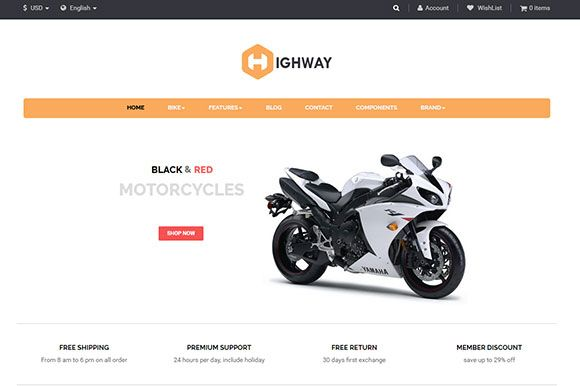 Ap Highway PrestaShop Theme Screenshot 1