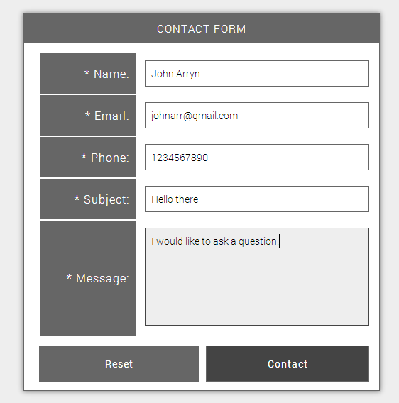Simple Ajax Contact Form PHP Script Screenshot 3