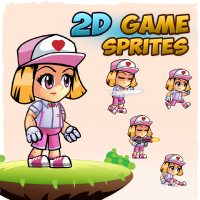 Ailyn 2D Game Character Sprites