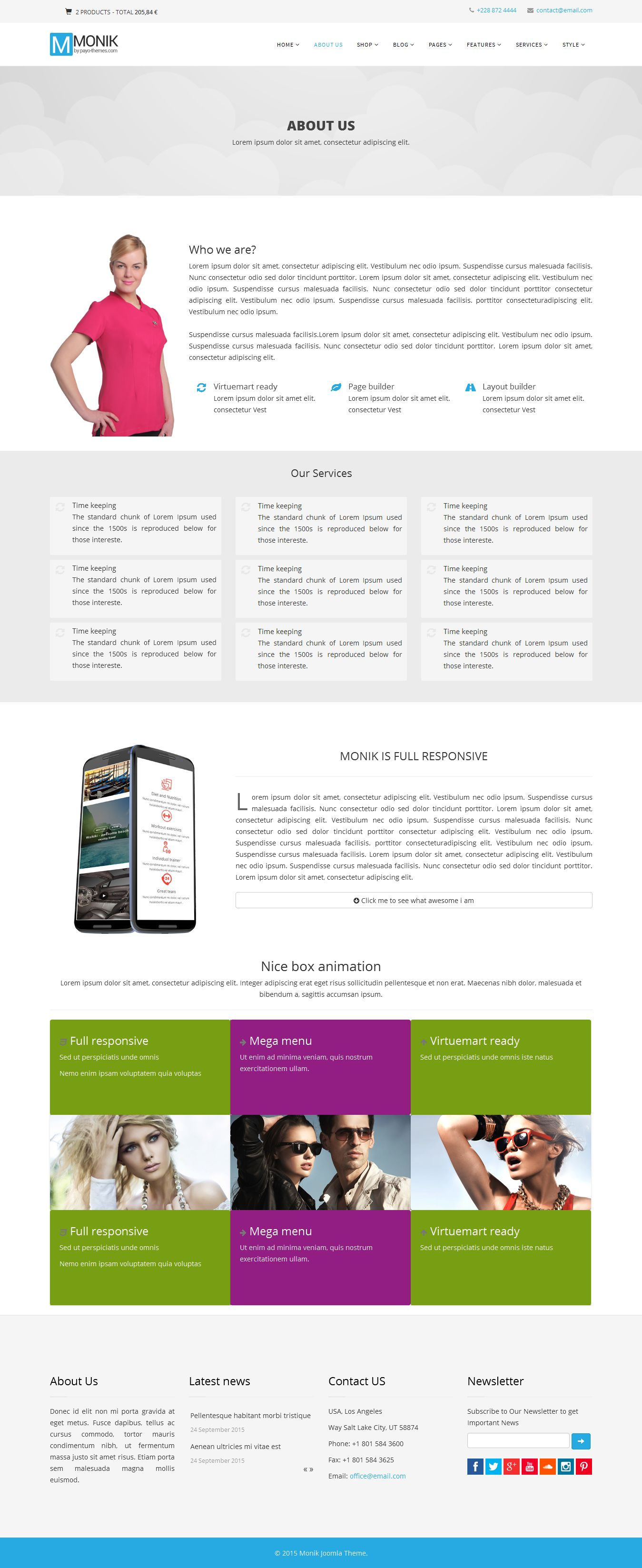 Monik - Responsive Multi-purpose Joomla Template Screenshot 1
