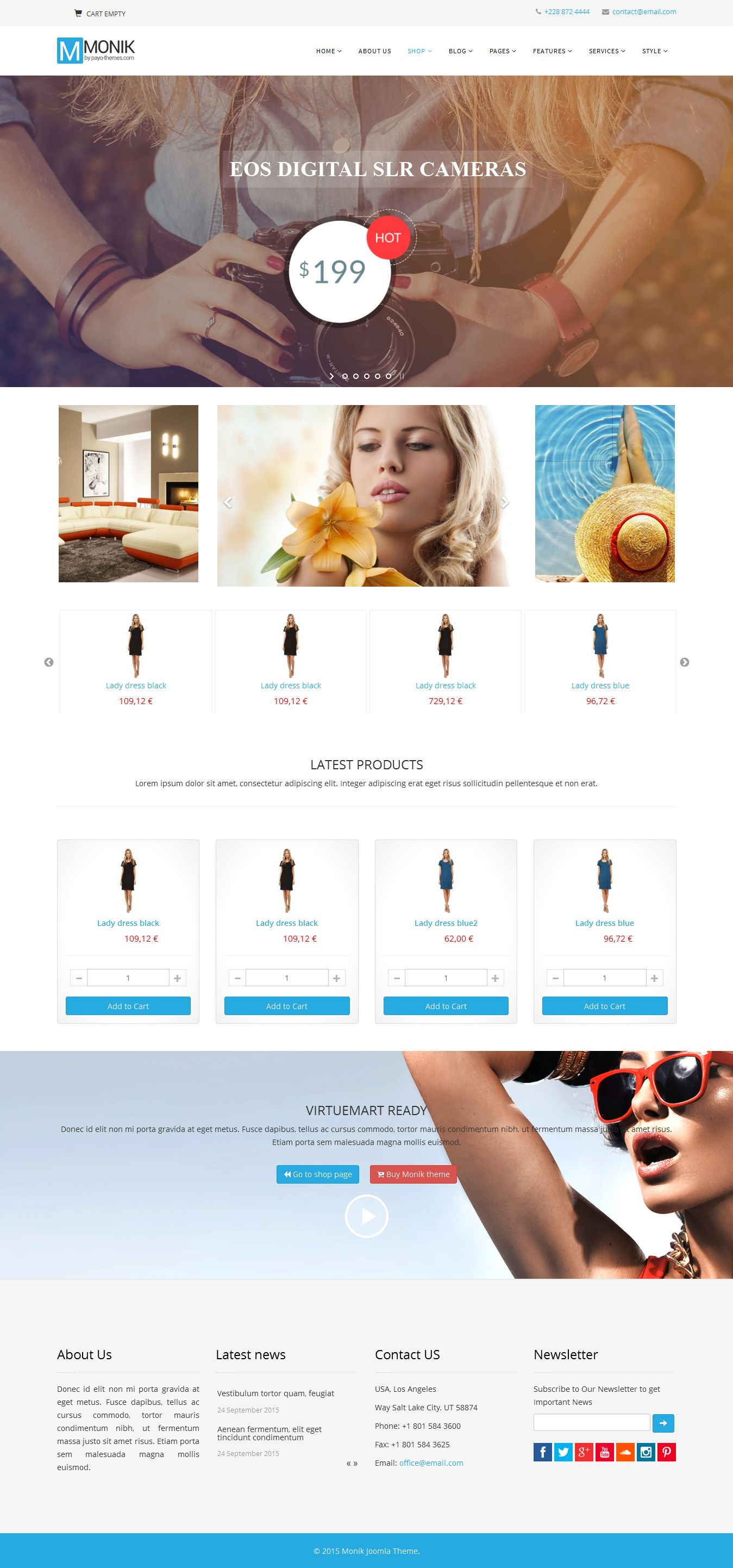 Monik - Responsive Multi-purpose Joomla Template Screenshot 2