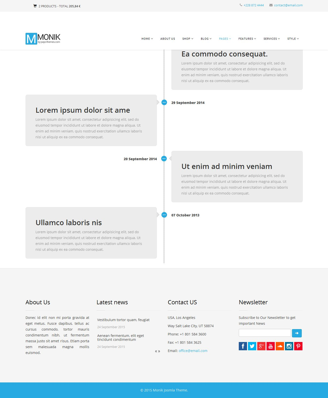 Monik - Responsive Multi-purpose Joomla Template Screenshot 3