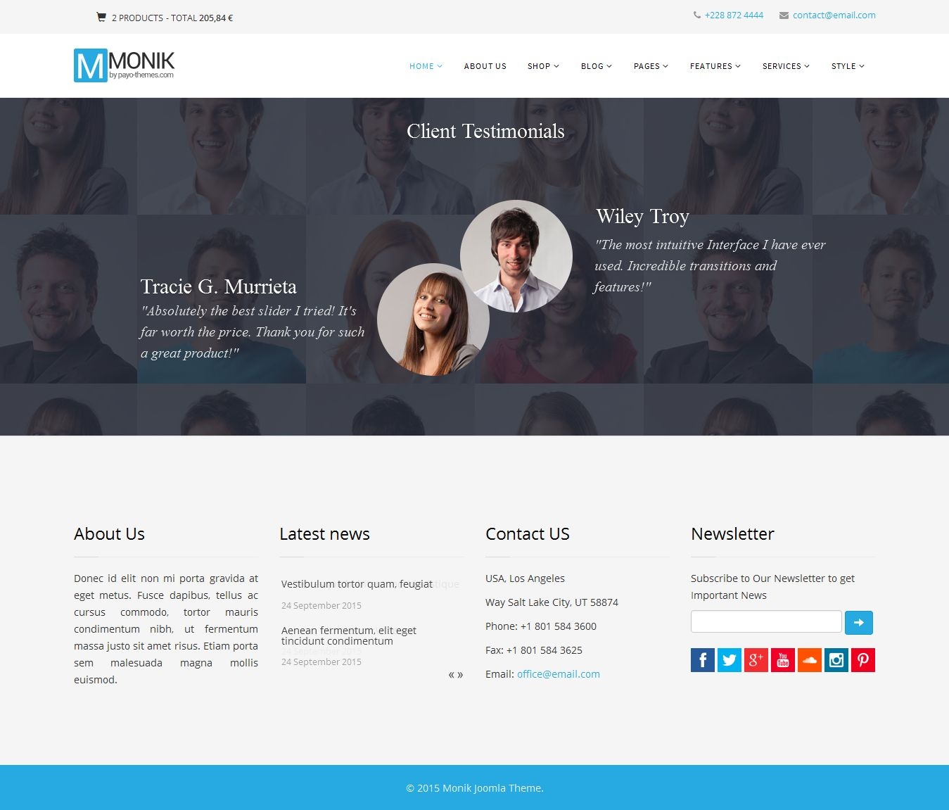 Monik - Responsive Multi-purpose Joomla Template Screenshot 5