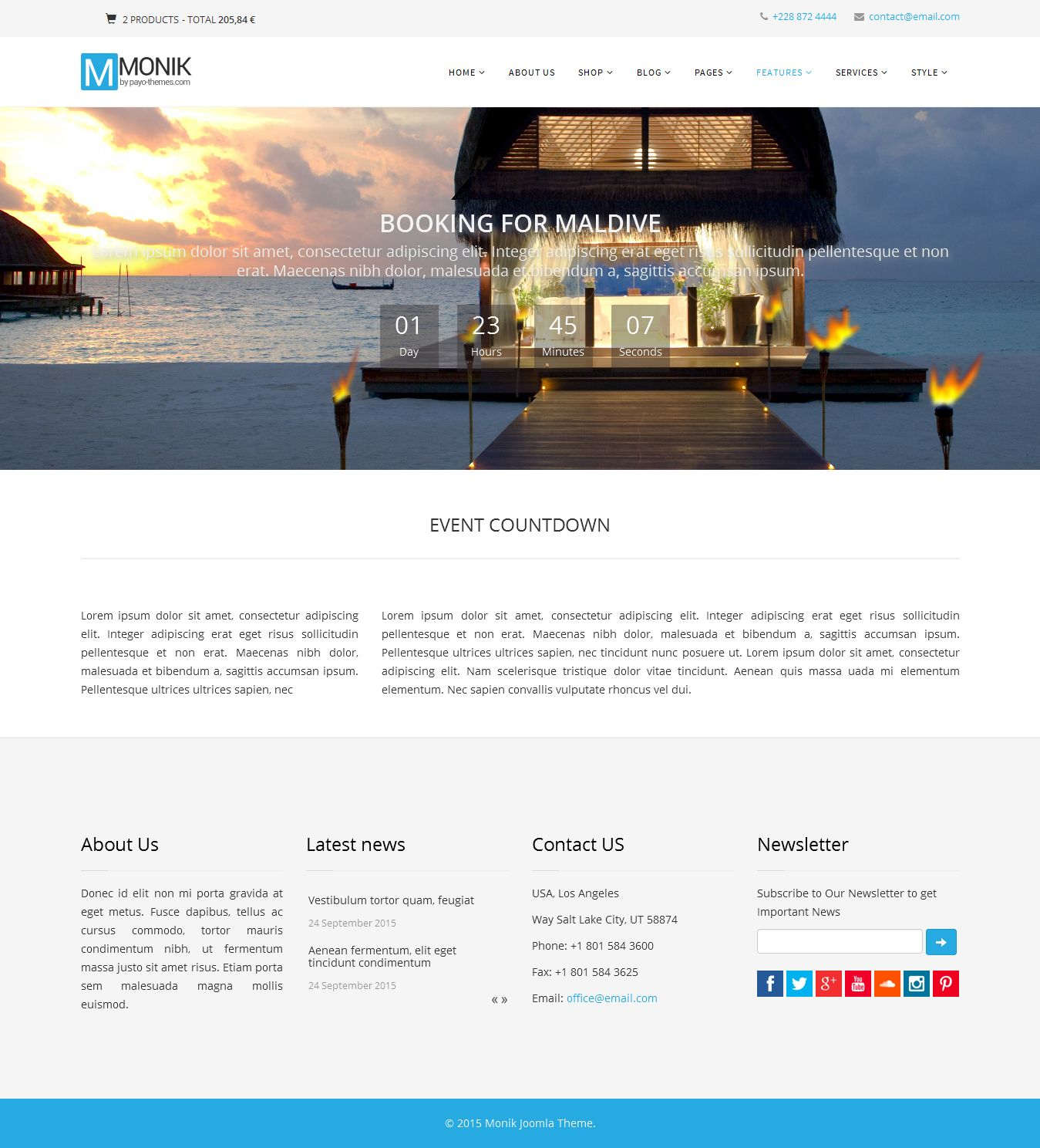 Monik - Responsive Multi-purpose Joomla Template Screenshot 6