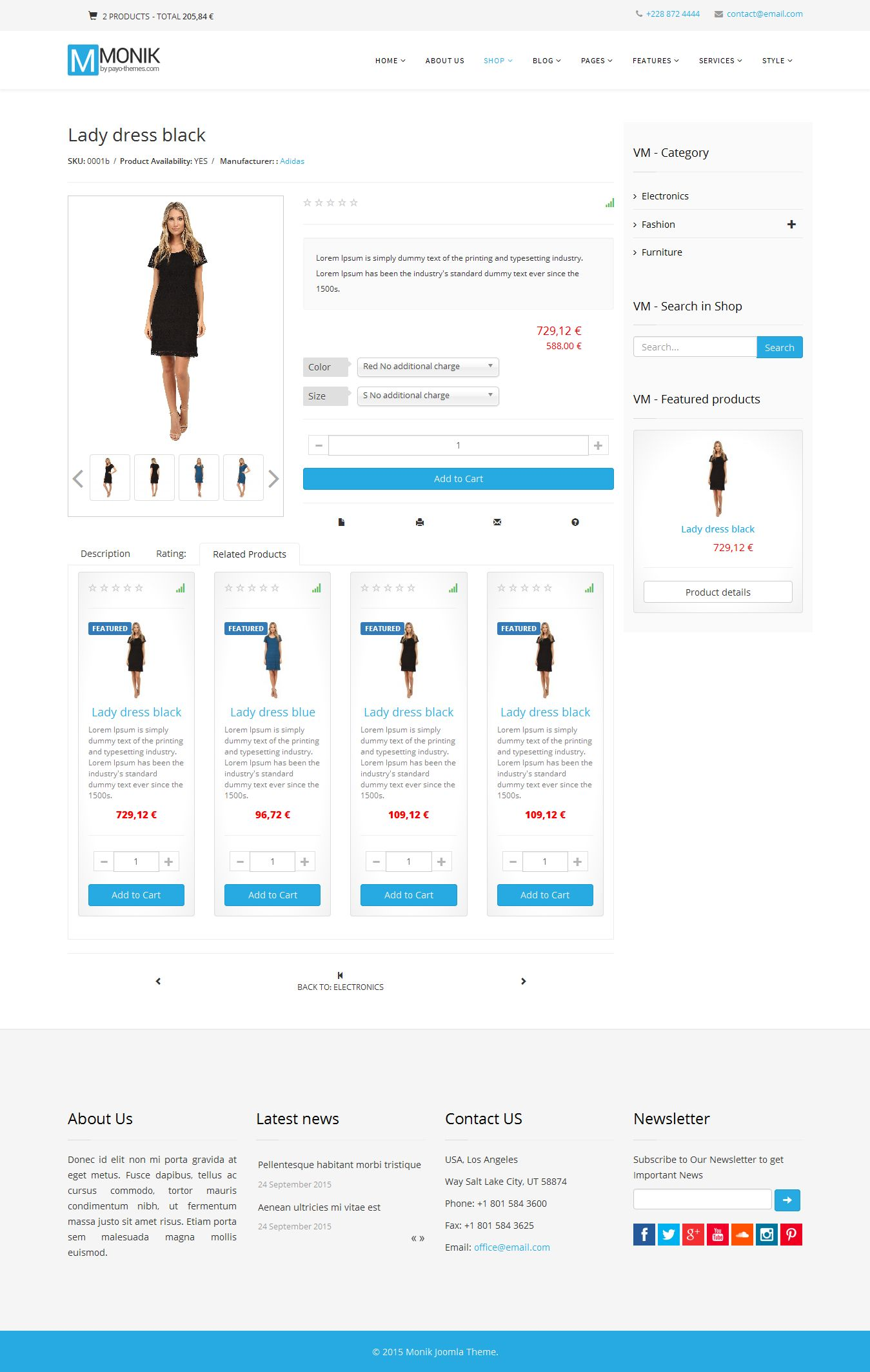 Monik - Responsive Multi-purpose Joomla Template Screenshot 11