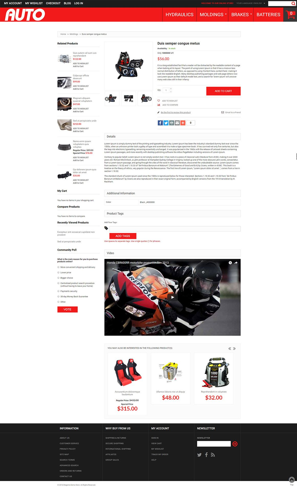 Car Accessories Magento Theme Screenshot 1