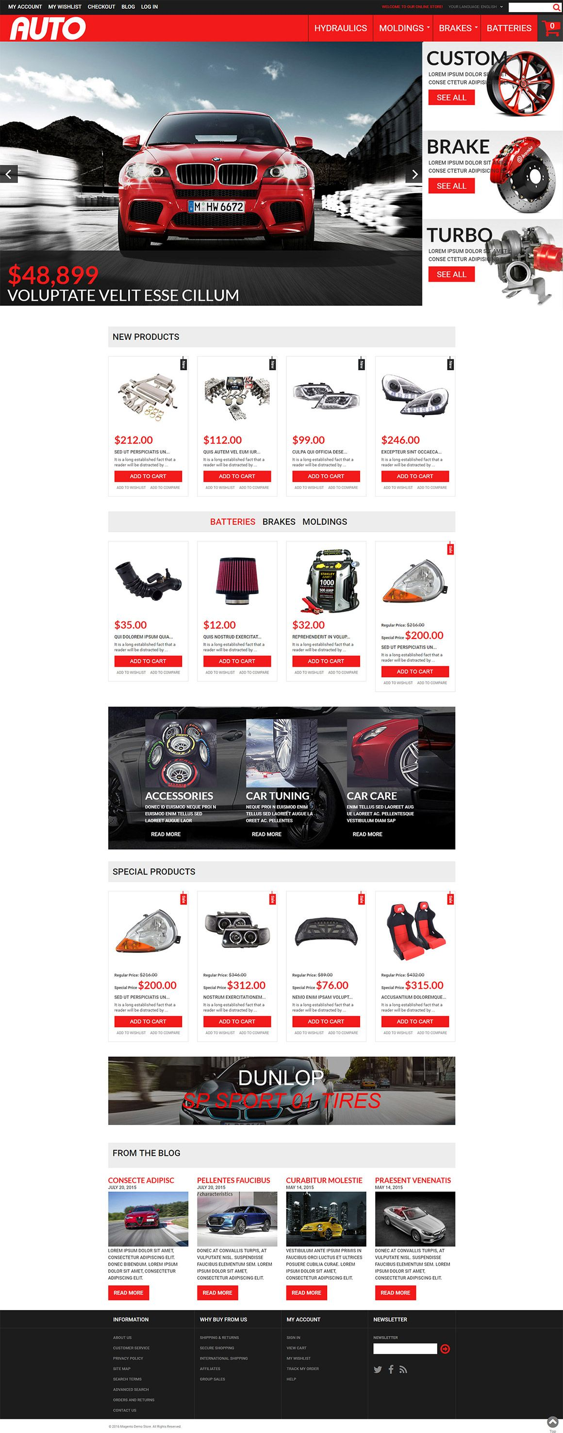 Car Accessories Magento Theme Screenshot 2