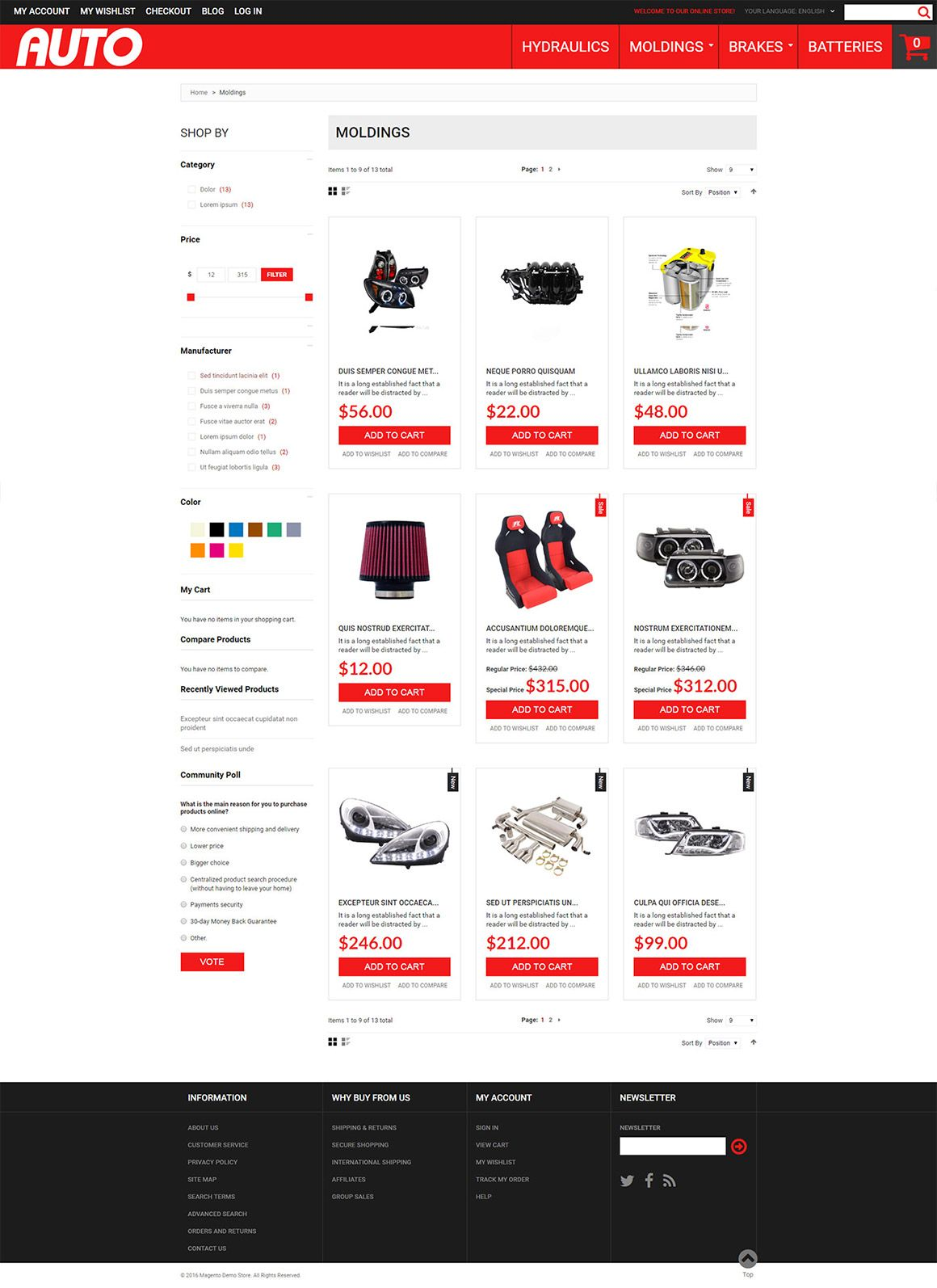 Car Accessories Magento Theme Screenshot 3